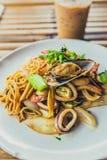 спагетти продуктов моря Стоковая Фотография RF