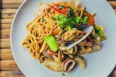 спагетти продуктов моря Стоковое Фото