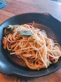 спагетти пряное Стоковое Изображение
