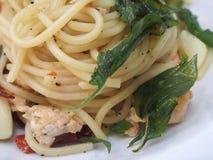 спагетти пряное стоковые фото