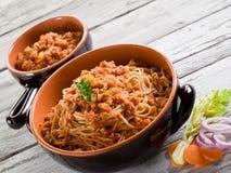 спагетти сои ragout стоковая фотография rf