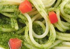 спагетти соуса базилика Стоковые Фото