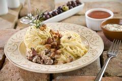 спагетти соуса carbonara Стоковые Изображения RF