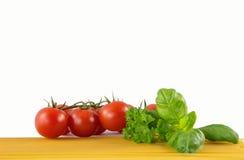 Спагетти с едой итальянки томатов Стоковое Фото