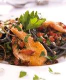 Спагетти с креветками Стоковые Фотографии RF