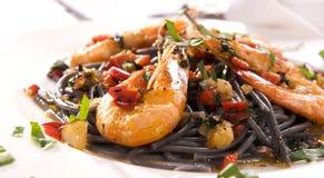 Спагетти с креветками Стоковая Фотография RF