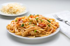 Спагетти с томатным соусом стоковое изображение