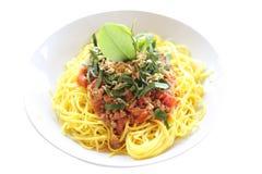 Спагетти с томатным соусом стоковая фотография rf