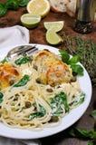 Спагетти с meatballs Стоковые Изображения