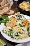 Спагетти с meatballs Стоковая Фотография RF