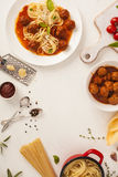 Спагетти с meatballs Стоковое Фото