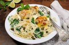 Спагетти с meatballs Стоковая Фотография