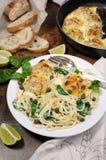 Спагетти с meatballs Стоковое Изображение RF