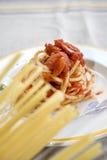 Спагетти с pummarola Стоковые Фотографии RF