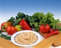 спагетти тарелки Стоковые Изображения RF