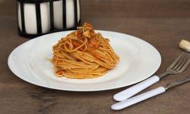 Спагетти тунца Стоковое Изображение