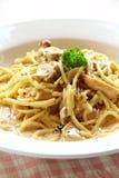 спагетти цыпленка carbonara Стоковые Изображения