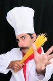 спагетти шеф-повара Стоковое фото RF