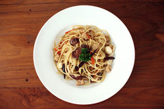 Спагетти для vegan Стоковые Фотографии RF