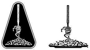 спагетти иллюстрация штока