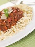 спагетти bolognaise Стоковые Фотографии RF