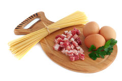 спагетти carbonara Стоковые Изображения