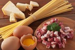 спагетти carbonara Стоковые Изображения RF