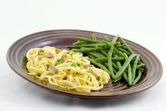 спагетти carbonara Стоковое фото RF