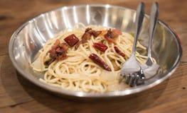 Спагетти Carbonara Стоковое Фото