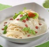 спагетти carbonara alla Стоковое Изображение RF