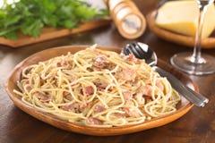 спагетти carbonara alla Стоковые Изображения RF