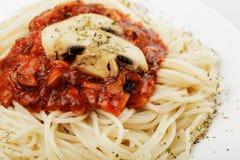 спагетти champignons Стоковое фото RF