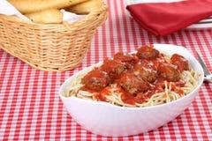 спагетти meatball обеда Стоковое Фото