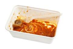 спагетти meatball остатка стоковые фото