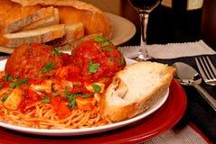спагетти meatballs Стоковое фото RF