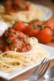 спагетти meatballs Стоковые Изображения
