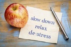 Спад, ослабляет и де-стресс на салфетке Стоковые Фотографии RF