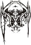 спайдер формы чужеземца вооруженный Стоковое Изображение