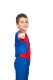 спайдер costume мальчика маленький Стоковое фото RF