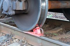 спайк железной дороги стоковые фото