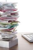 спайк металла архива счетов стоковое изображение
