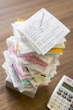 спайк металла архива счетов стоковые изображения rf