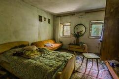 спальня дома в лесе Стоковое Изображение