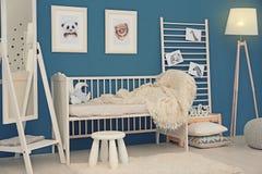 Спальня младенца с изображениями животных Стоковые Изображения