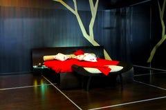спальня самомоднейшая стоковое изображение rf