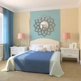 спальня самомоднейшая Стоковое фото RF