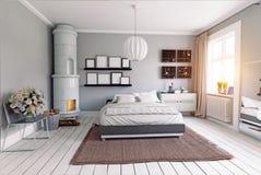 спальня самомоднейшая Стоковое Изображение