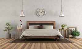 Спальня хозяев в классическом стиле иллюстрация штока