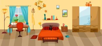 Спальня иллюстрация вектора