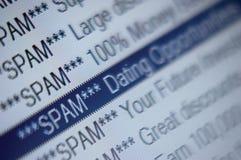 спам маркетинга перечисления скоросшивателя электронной почты черного списка Стоковое Изображение